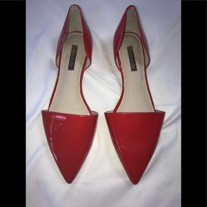 Louise Et Cie red patten leather shoes.